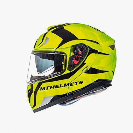 Cascos de moto amarillos