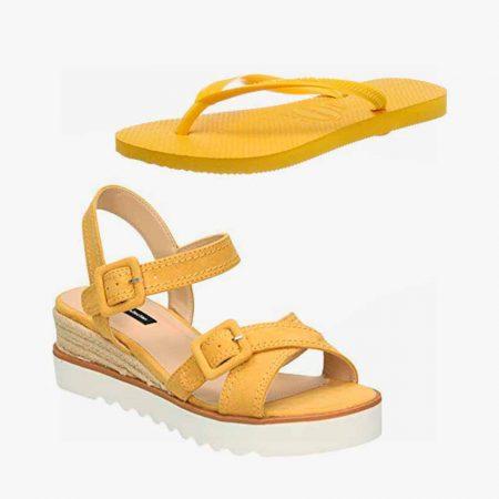 Sandalias y Chanclas Amarillas
